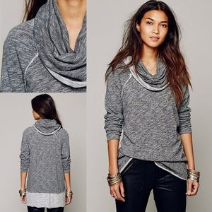 B2G1 Free People Cowl-Neck Pullover NWT